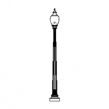 Core Cast Niland-17 Series Base & Pole w/ Capitol 5015 Luminaire
