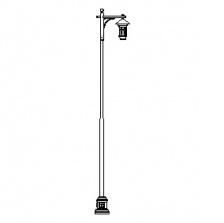 Grand Mission-24 Series Base w/ Mission Series Single Arm & Aspen Series Luminaire