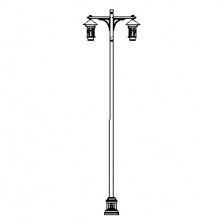 Grand Mission-24 Series Base w/ Mission Series Double Arms & Aspen Series Luminaires
