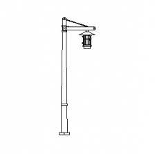 Aspen Series Tapered Square Pole w/ Aspen Series Single Arm & Aspen Series Pendant Luminaire