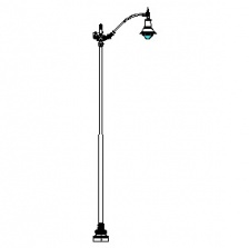 Niland-24 Series Base w/ Manchester Series Single Arm & Boston Common-26 Luminaire