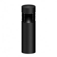 Small Federal Security Series Louvered Illuminated Bollard
