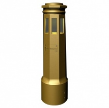 Federal Series Security Illuminated Bollard-LED